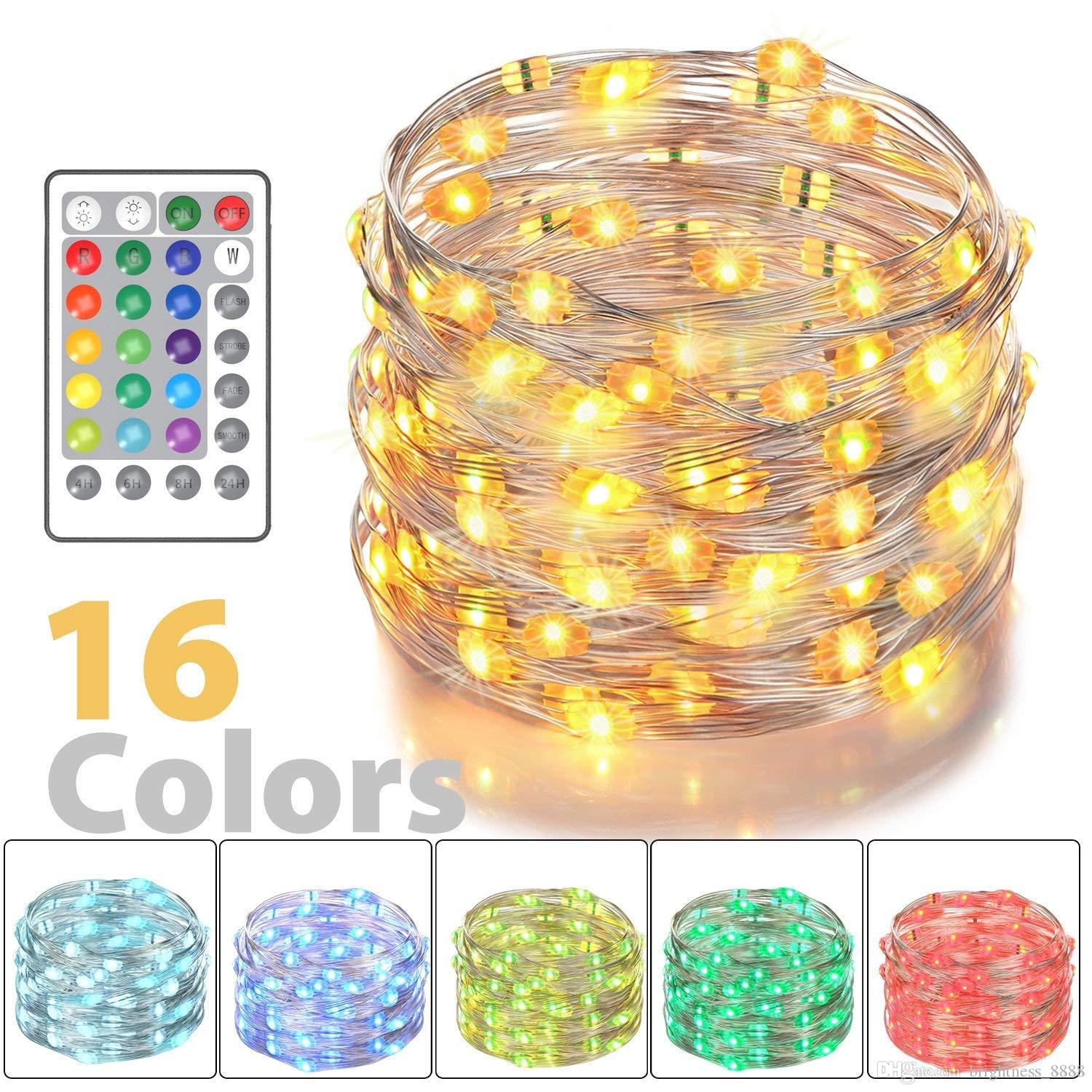 Led Fairy Lights Battery Powered Multi Color Changing String Lights