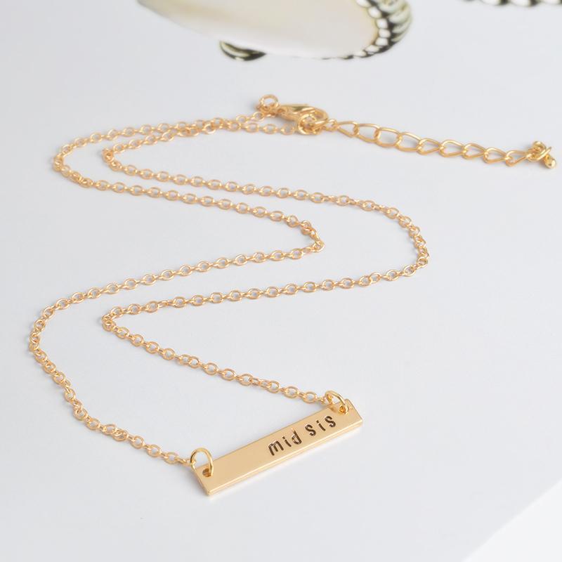 3 шт./компл. big sis mid sis lil sis тег ожерелье BFF цепи простой специальный подарок для мать дочь семья друзья ювелирные изделия