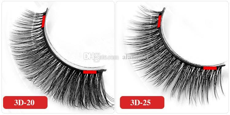 3D Double Magnetic Eye Lashes Reusable 3D Eyelash Without Glue Use Natural Bending False Eyelashes Extension
