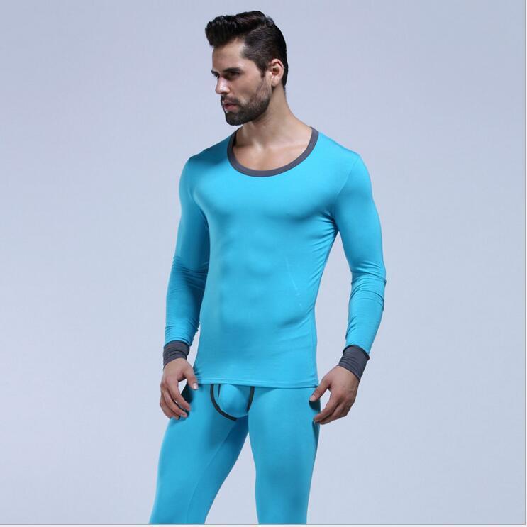 Nouveaux jeans longs pour hommes WJ mis en coton lycra legging mâle automne et hiver sous-vêtements thermiques Long Johns mis 5 couleurs M L XL
