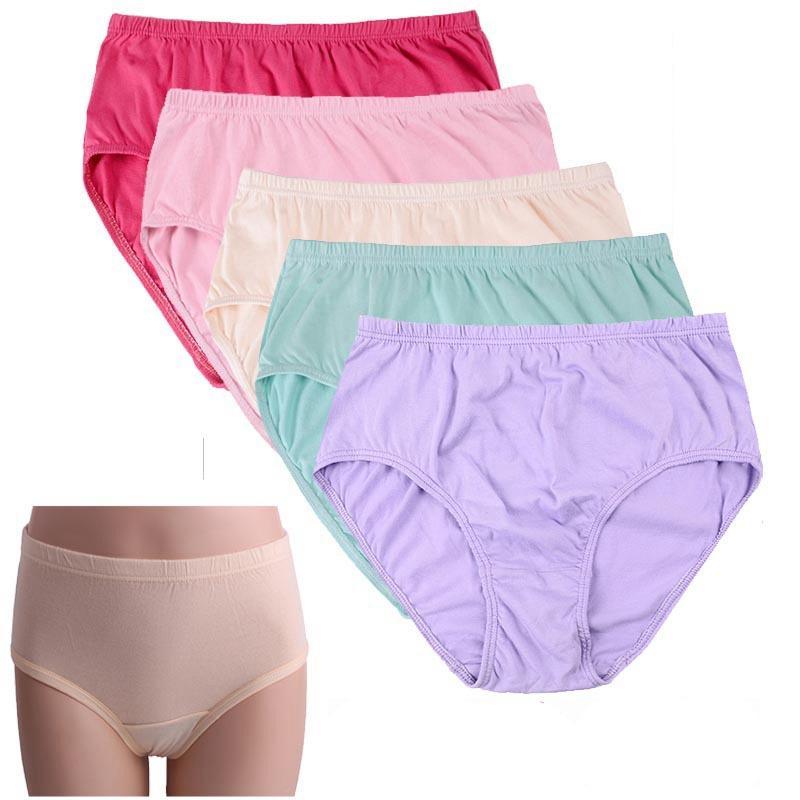 6c43e4091fd6 Cheap wholesale ropa interior femenina 10Pcs/lot Cotton high waist  Underwears Women Panties Plus Size 8XL lingerie women's brief