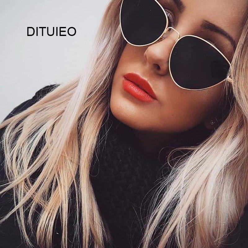 Compre Sexy Pequeno Do Vintage Olho De Gato Óculos De Sol Das Mulheres Do  Vintage Vermelho Preto Óculos De Sol Femininos Senhoras Cateyes Óculos De Sol  2018 ... be1cde3a1a