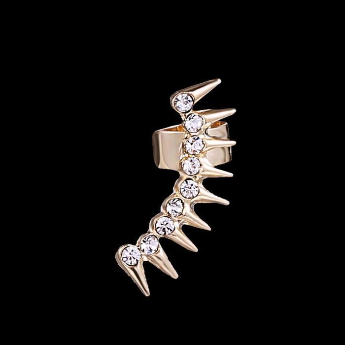 alta quility punk gotico dell'orecchio dell'involucro dell'involucro di nuovo modo stud orecchini orecchini corona di lusso da sposa orecchino d'oro le donne eleganti