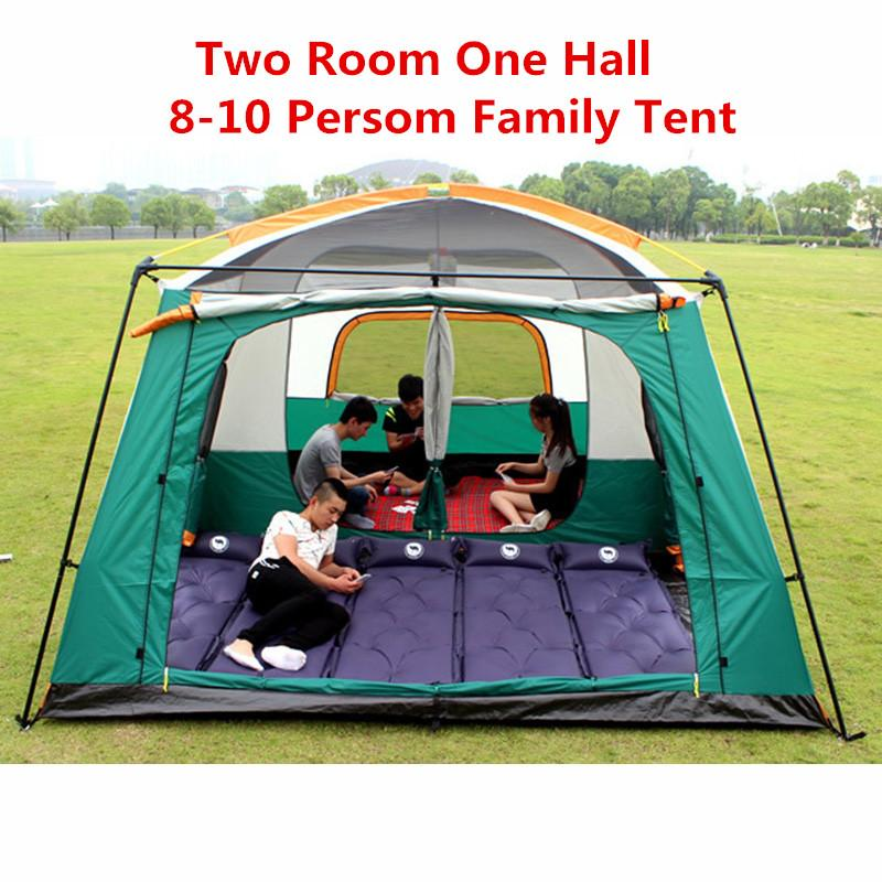 Big 8 10 12 Person Tent 210d Oxford Waterproof 4500mm 4