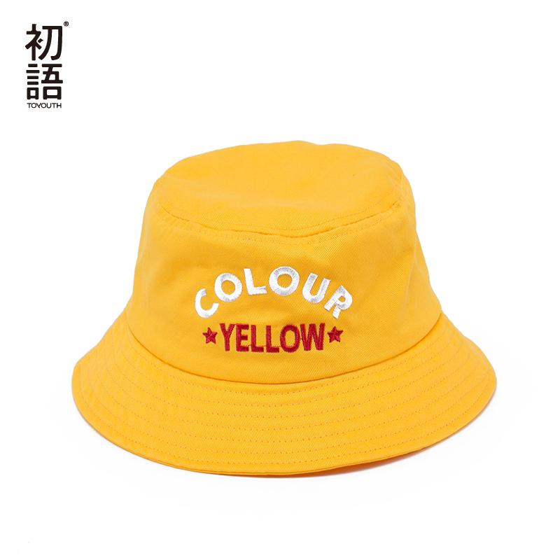 Toyouth Women Harajuku Bucket Hat Casual Fisherman Hat Yellow Fishing Sun  Hats Cotton Women Hats 2018 Summer Hat Straw Cowboy Hats From Vintage66 7b888a624b8