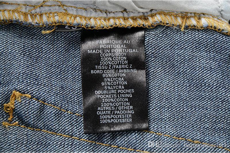 88100 # Męska ozdobione żebrowane spodnie moto naoliwione malowane dżinsy rowerzysta Slim niebieski spodnie rozmiar 29-42
