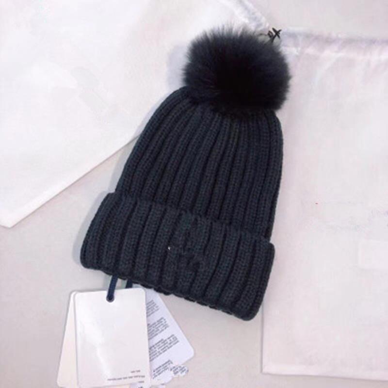d9166f9991f 2019 Real Fur Raccoon Knitted Winter Brand Hat Knitted Girls Ski Hard Cap  Female Warm Skullies High Bun Casual Hats For Women From Jianpin