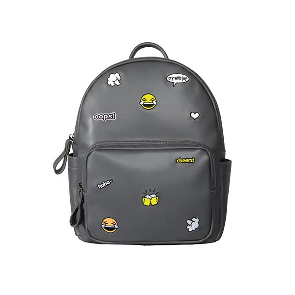85a5049935 Kiitos Life Casual PU Leather Grey Embroidery Backpacks for Girls in ...