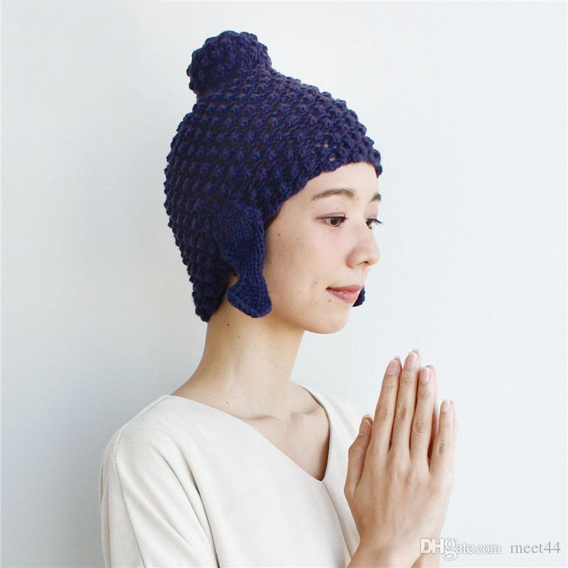 Compre La Sra. Qiu Dong Sombrero De Tejer Japón Original Moda De ...
