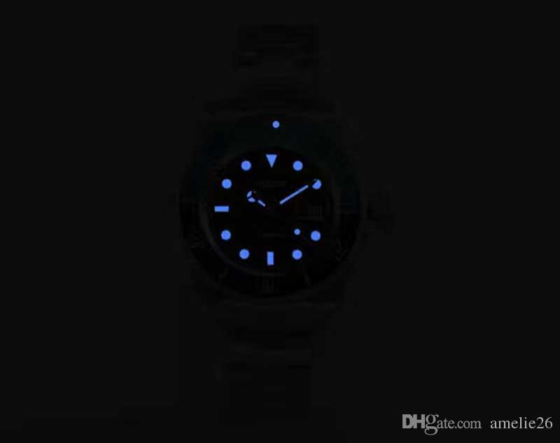 Relogio masculino Hombres de Negocios de Lujo Relojes Mecánicos Negro Bisel de Cerámica de Acero Inoxidable Relojes de Los Hombres Reloj Masculino Automático Bonito Regalo
