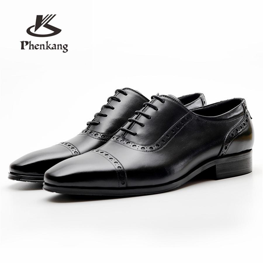 Sommer Herren Formale Schuhe Aus Echtem Leder Oxford Schuhe Für Männer Schwarz 2019 Kleid Schuhe Hochzeit Schuhe Schnürsenkel Leder Brogues Schuhe Formelle Schuhe