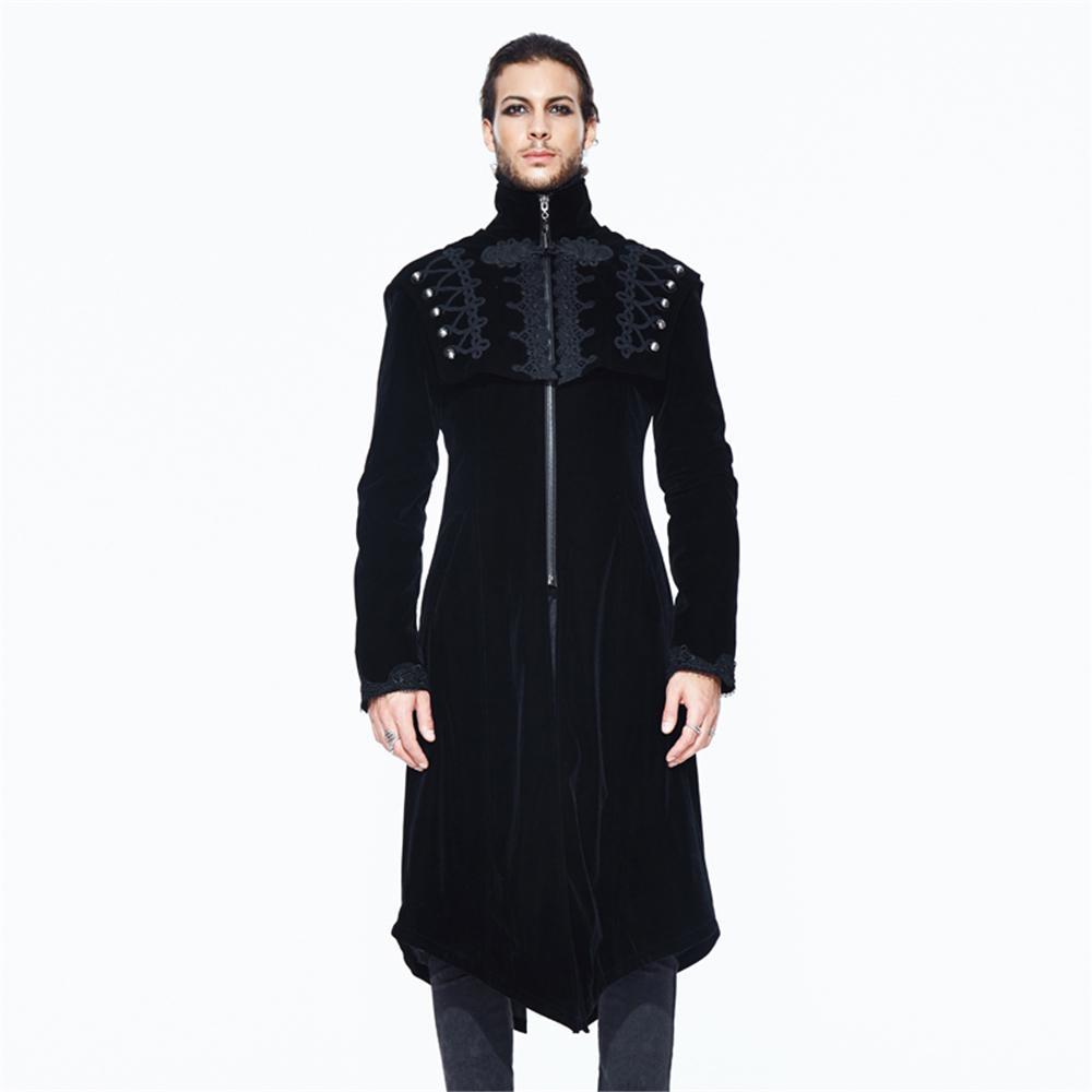 de038d8d8a9be Gothic Men S Long Jackets Punk Turtleneck Winter Casual Coat Victorian  Irregular Long Sleeve Overcoats Mens Coats Jackets Black Leather Bomber  Jacket Women ...