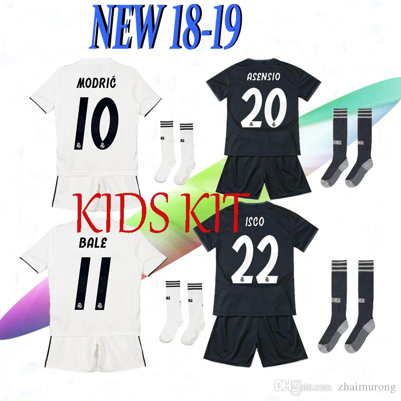 21ef6986b 2019 2018 Real Madrid New Kids Soccer Jersey Kits 18 19 RONALDO ...