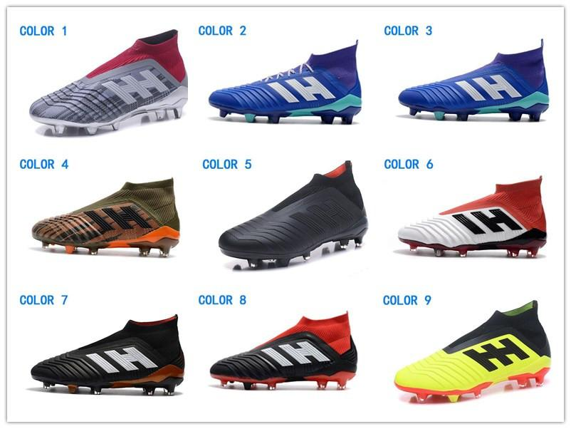 1edc842c2eed 2019 2018 Youth Girl Soccer Shoes Cheapest New Kids Mens Women Predator 18  FG Soccer Cleats Children Football Boots Top Sales Boys Soccer Boots From  ...