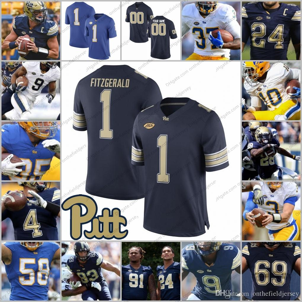 2019 Custom Pittsburgh Panthers Pitt NCAA Football Jersey Any Name Number   8 Kenny Pickett 25 LeSean McCoy 28 Dion Lewis Gold Blue White S 3XL From  ... cc492b778
