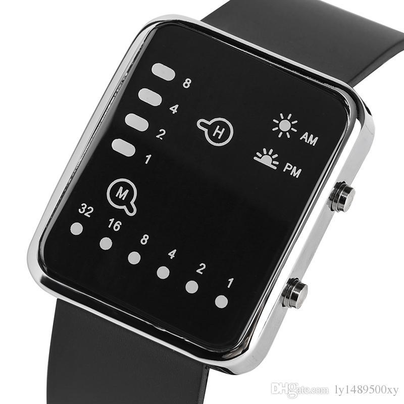 Наручные часы с двоичной системой счисления часы спортивная в подарок