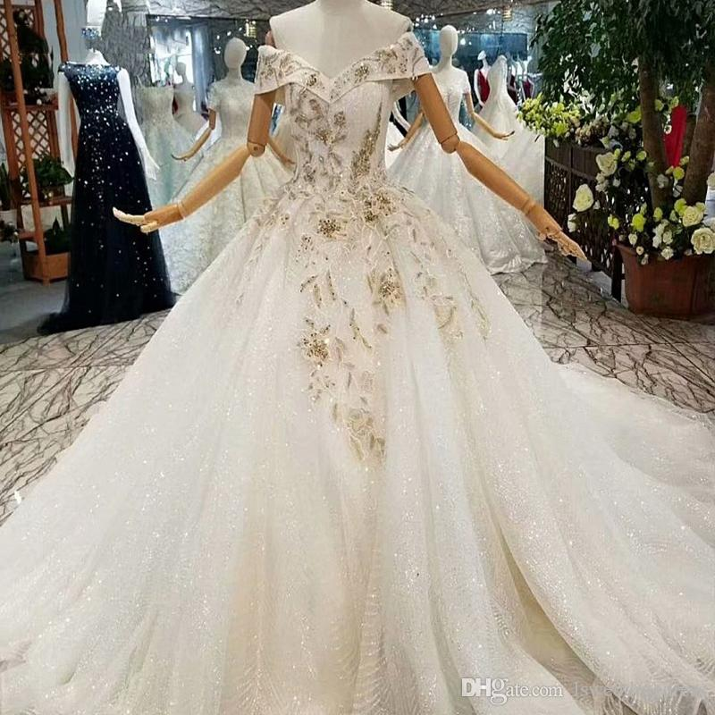 53b9a410e0 Beaded Flowers Wedding Dresses Charming Off The Shoulder V Neck 2019 Luxury  Applique Popular Wedding Gown Buy Direct From China Factory
