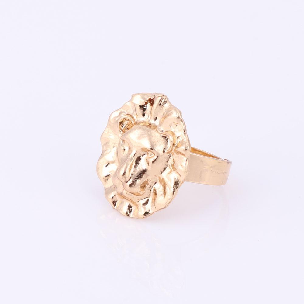 Women's Fashion Simple Atmospheric 3 Metal Lion Pendant Necklace Bracelet Earrings Gold Color Jewelry Sets