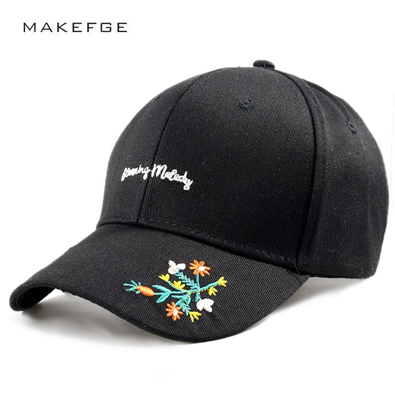 women girl luxury cap floral beauty hat embroidery custom design flower  colored baseball caps men boy novelty snapback casquette
