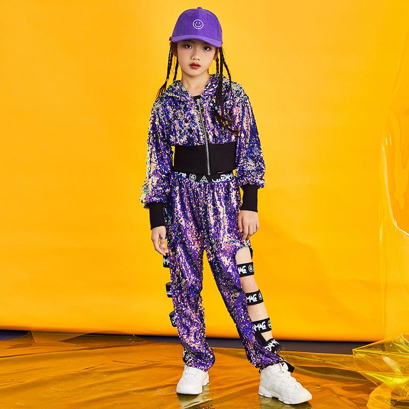 Compre New Fashion Girls Jazz Hip Hop Trajes De Baile Niños Lentejuelas  Rendimiento Ropa Kids Street Dance Outfit Dancing Wear DL3042 A  36.44 Del  Pamele ... eca5c8ada14