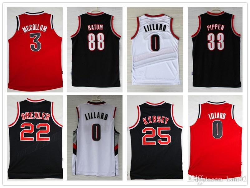 more photos 633f2 0e452 2018 new season Authentic Mens 0 Damian Lillard 22 Clyde Drexler Stitched  Basketball jerseys S-XXXL
