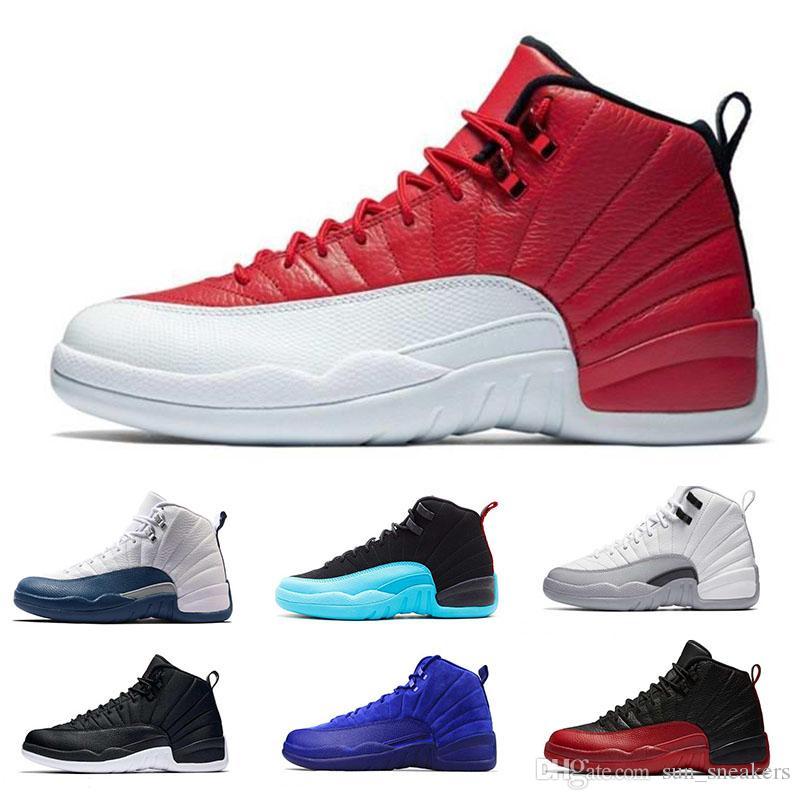 sports shoes d48aa 13232 Großhandel 2018 Nike Air Jordan 12 Sneakers Klassische 12 12s Neue Mode  Schuhe Schwarz Weiß The Master Gym Red Taxi Playoffs Gamma Französisch Blau  ...