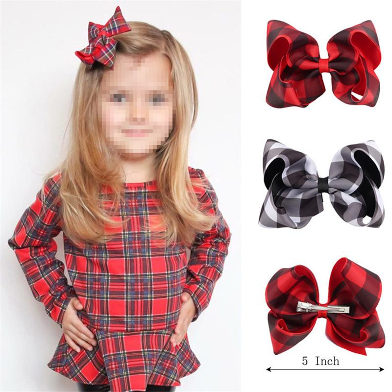 Boutique Christmas 5 Inch Baby Hair Bow Plaid Headband Hair Clip Gingham  Kid Newborn Head Band Chinese Hair Accessories Hair Accessories For Tweens  From ... 5d93cea1e5e