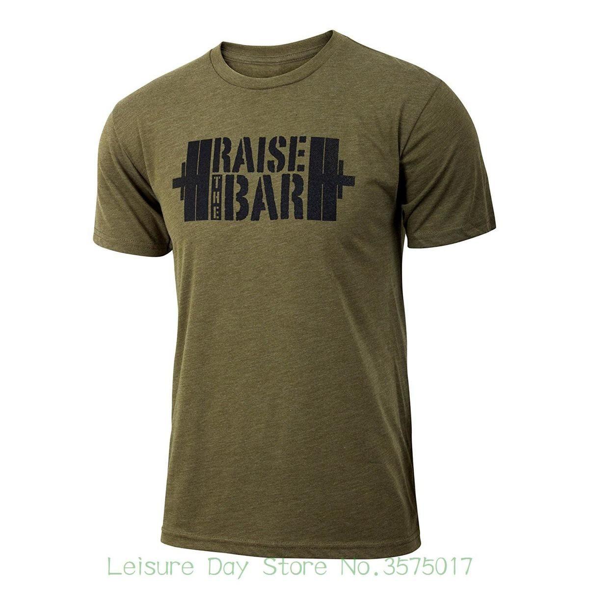 Personalized T Shirt Custom T Shirt Raise The Bar Military Green