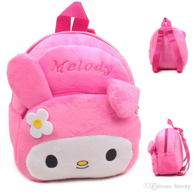 7591394260 2015 New Lovely Baby Character School Bags Children My Melody Design Plush  Backpack Girls Toy Mini Cute Bags Kids Gift Stuffed Dolls Stuffed Toy  Animals ...