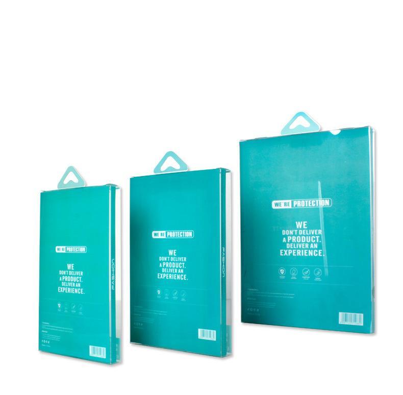 Scatola di plastica del pvc della scatola al minuto su ordinazione la copertura del ridurre in pani di ipad mini 2 3 scatole di imballaggio della copertura della cassa di cuoio da 8 pollici aria del ipad