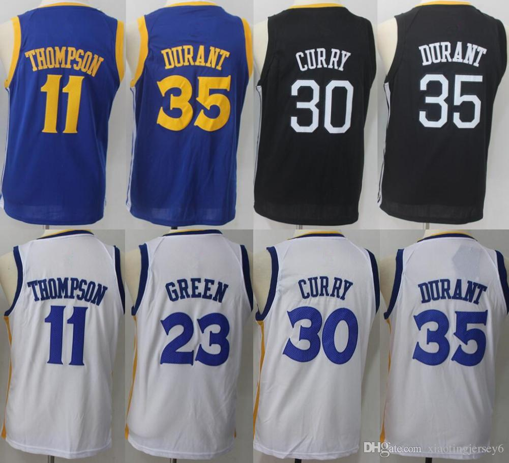 d31cbe960f19 ... golden state warriors nba home jersey 6812f dad8f  cheap compre 2018  novo juventude costurado 30 stephen curry jerseys 35 kevin durant 23  draymond verde