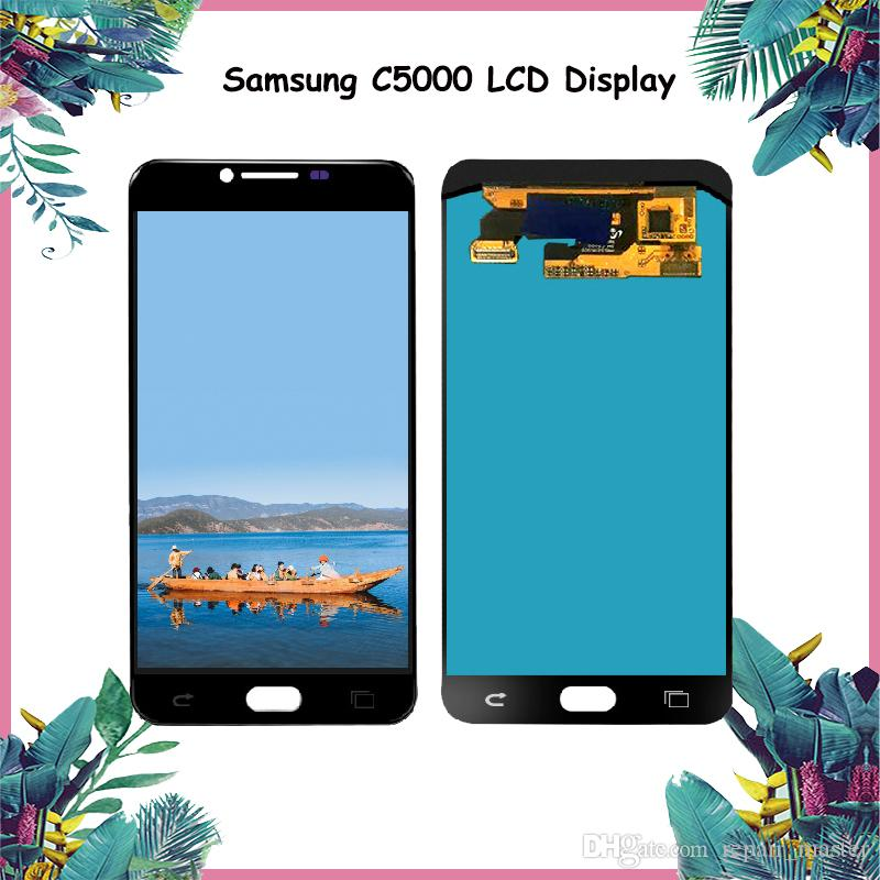 a3c0d23014bac5 Original 5.2'' Super AMOLED LCD for SAMSUNG Galaxy C5 LCD Display C5000  Touch Screen Digitizer Replacement Parts