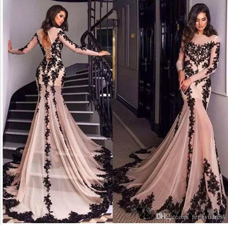 Последний дизайн с длинным рукавом Русалка вечернее платье развертки поезд на заказ женские платья выпускного вечера особый случай формальные носит