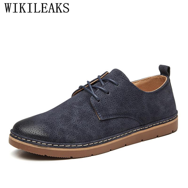 Compre 2018 Zapatos Oxford Clásicos Para Hombre Zapatos De Vestir De Cuero  De Gamuza Planos Para Hombre Caballero De Lujo Casual Zapatos Hombre Vestir  A ... 7de5da39de0