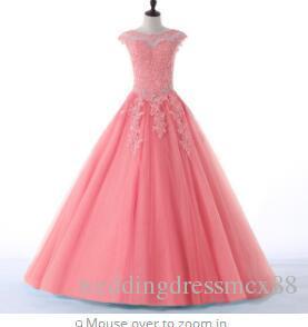 2508877a8a Compre Favordear Nueva Colección Quinceanera 15 Años Vestidos De 15 Anos  Cuello Alto Rojo Rosa Turquesa Vestidos De Fiesta De Quinceañera A  118.6  Del ...