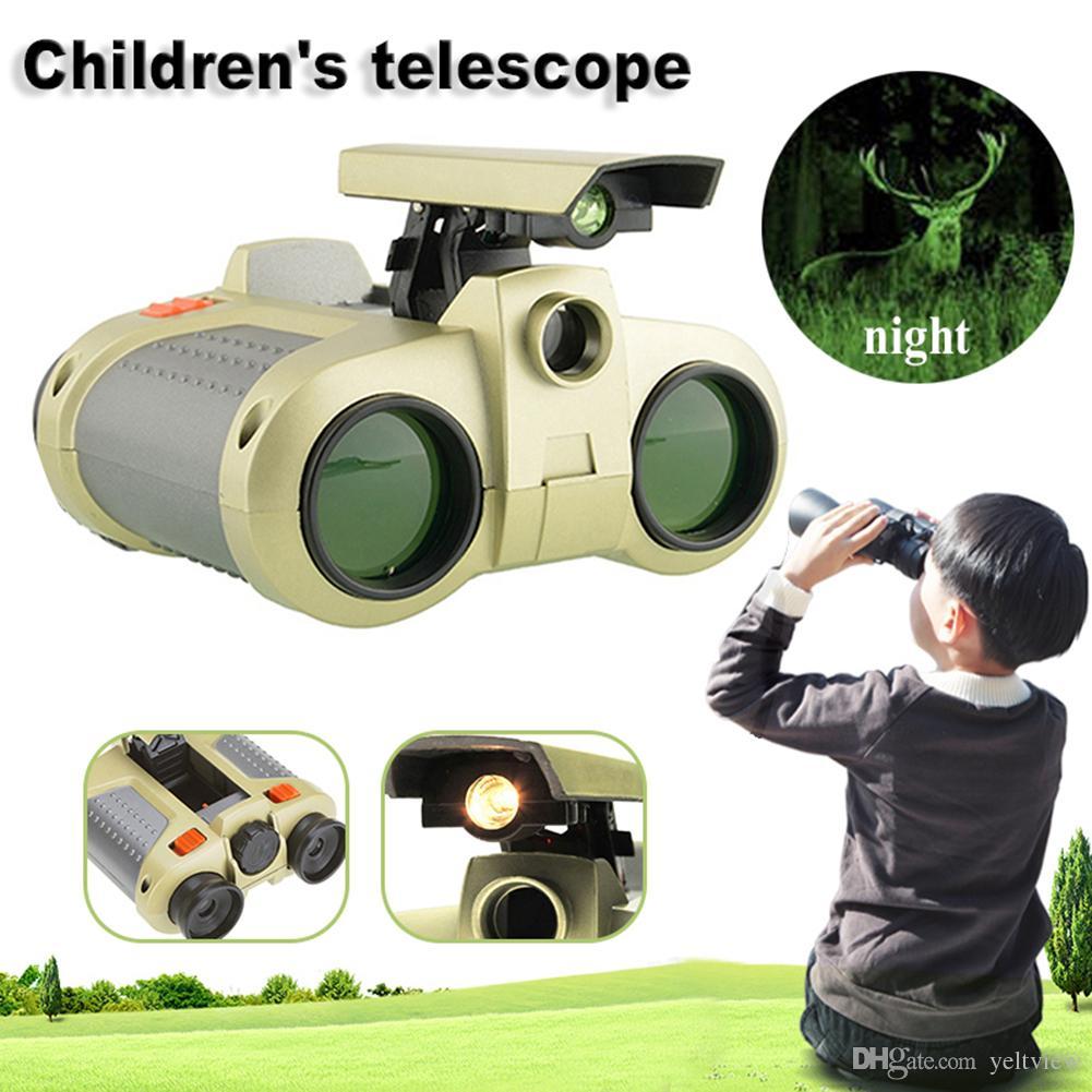 4x30 niños Binoculares Visión Nocturna Telescopio Luz emergente Visión Nocturna Alcance Prismáticos Novedad para más de 3 años de edad Kid Boy Juguetes Regalos