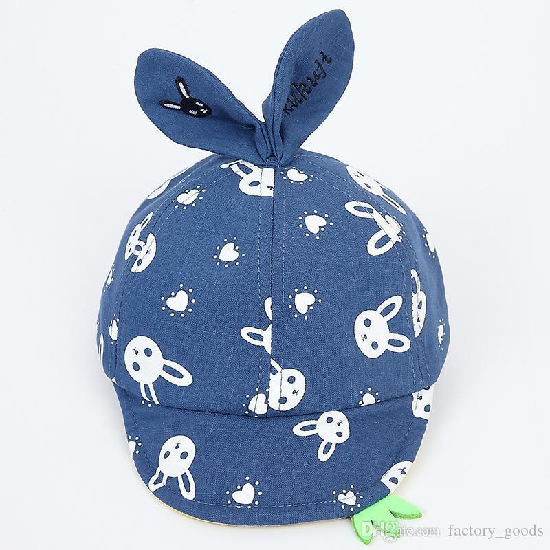 Berretti da baseball del fumetto dei cappelli 3D del bambino Neonati Cappello di Sun del cotone le ragazze dei ragazzi Cappuccio casuale Primavera Autunno all'aperto caldo 718