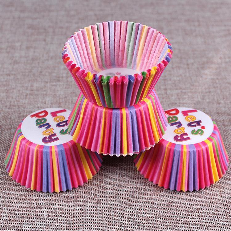 Cartone animato Festa di nozze Biscotti Cottura Cupcake Tazze Fodere Custodie muffin Carta di cioccolato Torta Cup i 100 pezzi / set