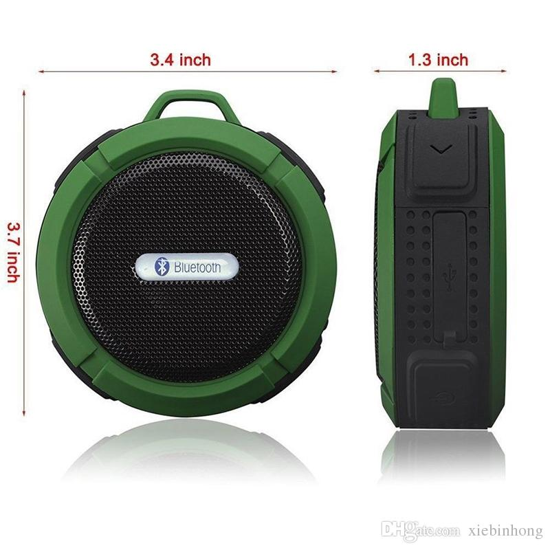 Single-p C6 waterproof bluetooth speaker outdoor sports suction cup mini small speaker phone car, the low-pitched sound factory direct sales