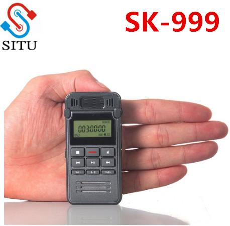 SK 999 Professional 8GB Portable LCD Metal Digital Audio