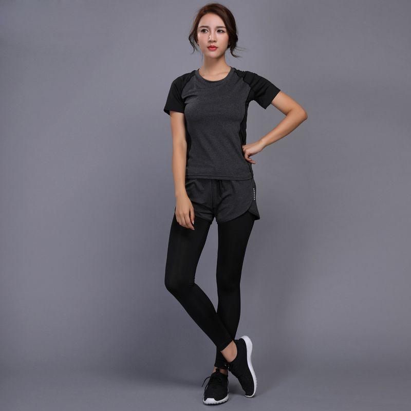 Compre 2 Unidades Mujeres Yoga Set Fitness Gym Ropa Correr Tenis Camisa  Pantalones Yoga Leggings Jogging Entrenamiento Deporte Traje Ropa Deportiva  Moda ... 5d05c39304c31