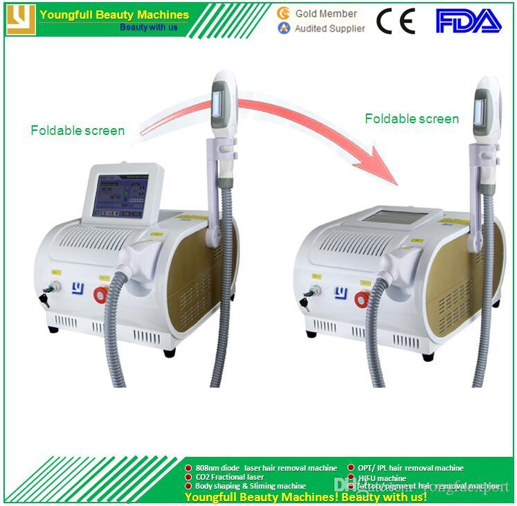 Envío gratuito aprobado por el CE intensidad de la depilación permanente pulso ligero depilación láser equipo de rejuvenecimiento de la piel IPL máquina de depilación