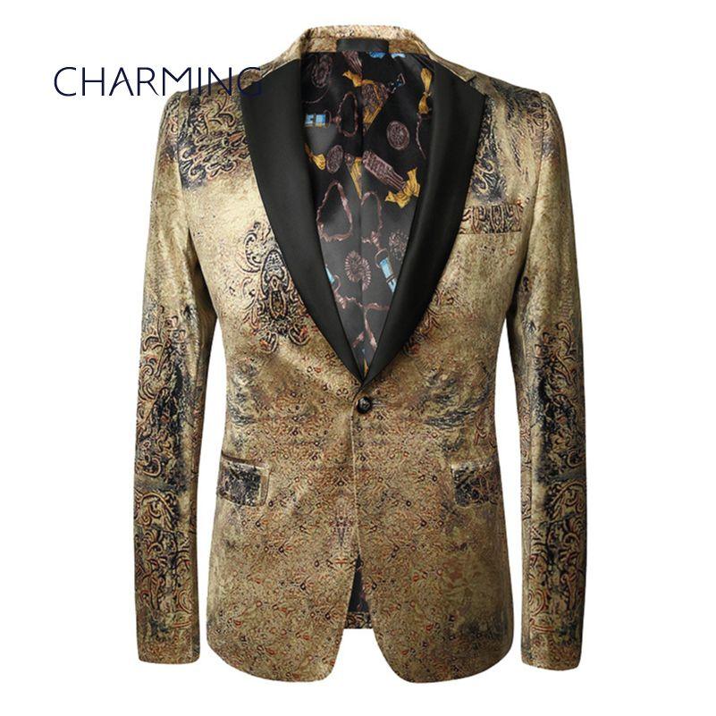 Compre Blazer Men Trajes De Marca Para Hombre Vestido De Caballero  Personalizado Traje De Cantante Apto Para Hombre Tela De Alta Calidad  Chaquetas Formales ... ede5c349fcf