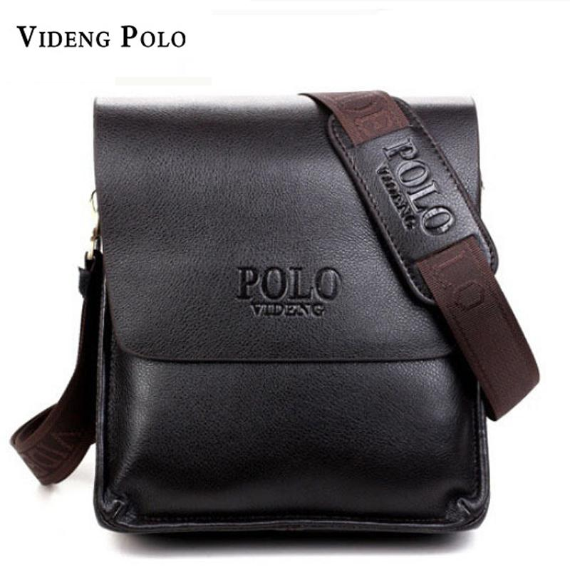 2018 New Leather Men Bags Famous Brand Classic POLO Male Shoulder Bag  Leather Vintage Crossbody Messenger Bag For Men Briefcase S914 Italian  Leather ... ce3d8dfc87446