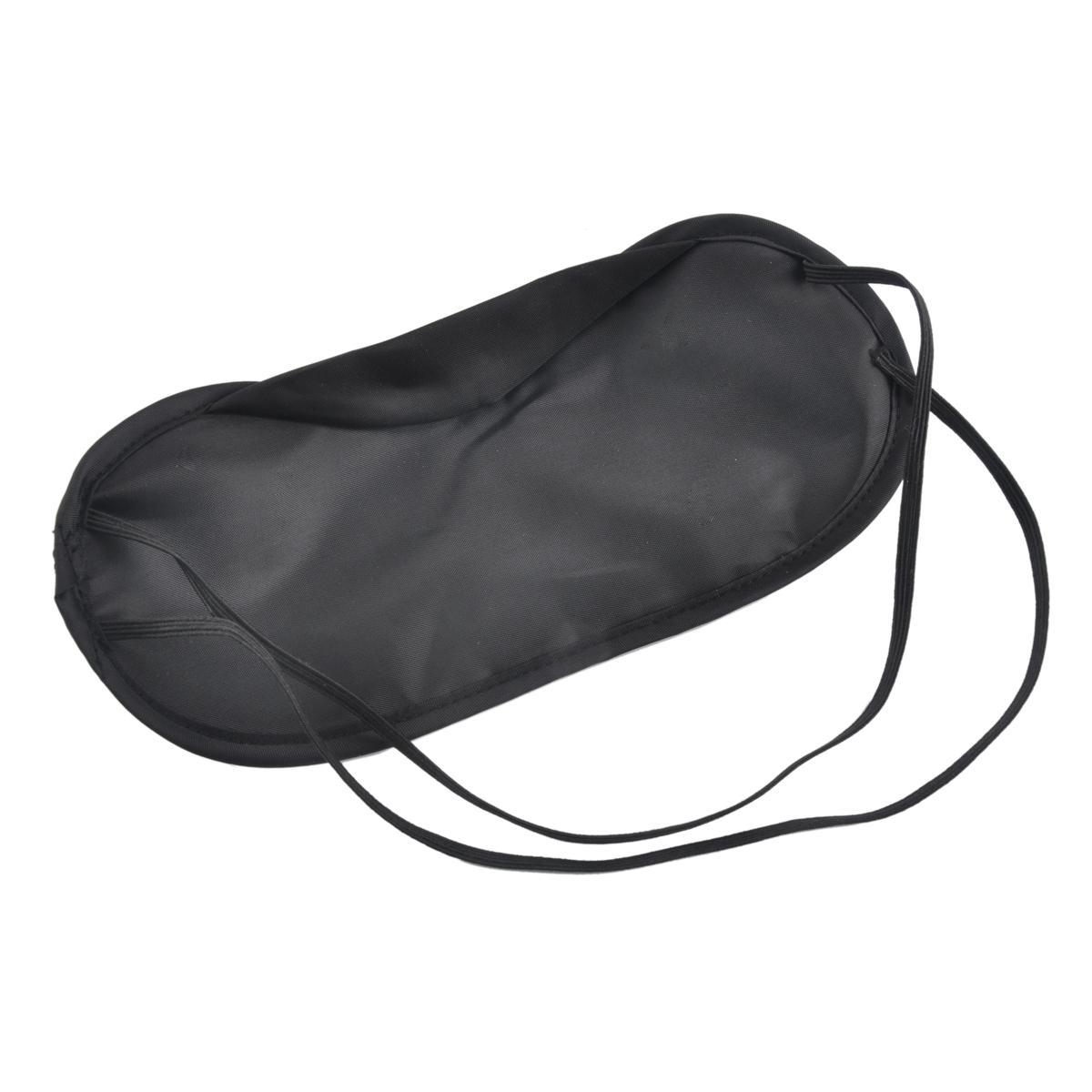 Schwarz Augenmaske Polyester Schwamm Shade Nickerchen Abdeckung Augenbinde Maske für Schlaf Reise Weiche Polyester Masken 4 Schicht frei DHL