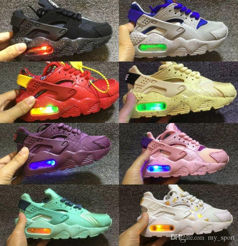 55924a771375d 2018 Air Huarache Infant Running Shoes Kids Sports White Children Huaraches  Huraches Designer Hurache Casual Trainers Baby Running Sneakers Top Running  ...