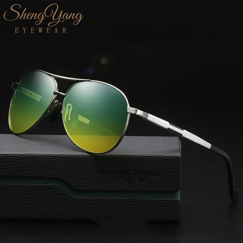 5fe18873e5 SHENGYANG Multifunction Yellow Green Driving Sunglasses Day Night Vision  Anti Glare Polarized Sunglasses Safety Glasses Men P669 Prescription Glasses  Online ...