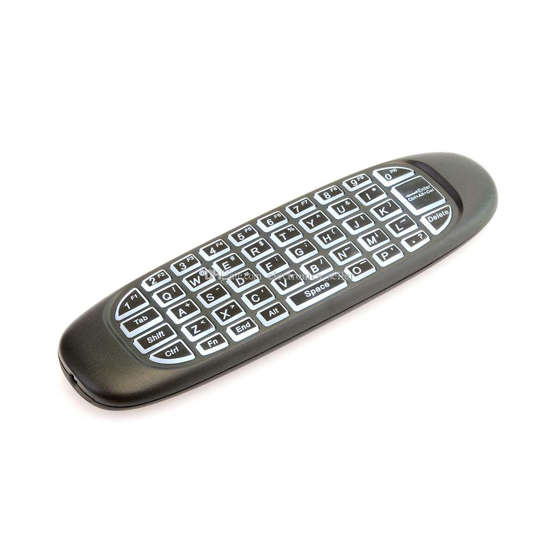 G64 Air Mouse 2.4G Remote Control Wireless Keyboard Backlit 2 Side G Sensor Gyroscope for MXQ S905W Android TV Box T95Z