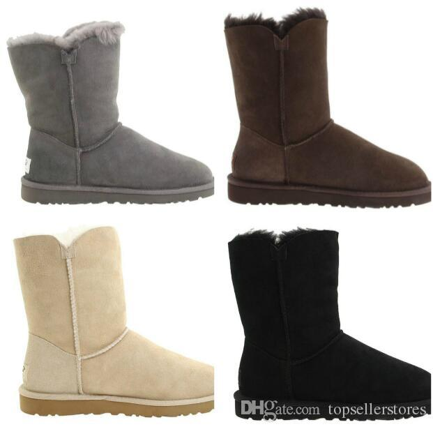 Fashion Snow Boots Warm Women New Winter Boot Xmas Ladies BUTT0Ns Style  Short Shoes Girls Shorts Boots Online Sale Black Boots Boots Pharmacy From  ... 43240c89b