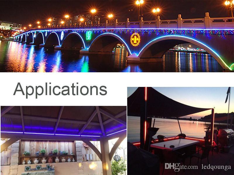 12 V LED Esnek Şerit Neon Tüp Işık 10 Metre Su Geçirmez IP65 Reklam Köprü Işareti Aydınlatma Lambası için 12 V Kırmızı Sıcak beyaz Mavi Yeşil